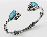 Cuff skull bracelet - Tyvodar.com