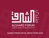 Sharq Forum Social Media templates