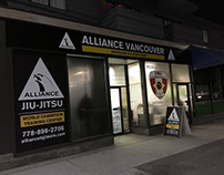 Alliance Vancouver BJJ Signage 2016