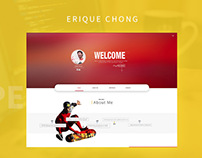 Erique Chong's Personal Website Design