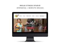 Baila Fitness Studio Branding + Website Design
