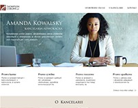 website layout - law office