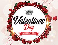 Valentines Day 2018 - Minimal Poster Flyer