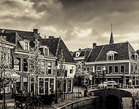 Dokkum in black and white