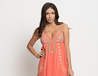 Buy online floral embroidered maxi dress for women on s
