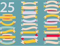 FREE RIBBON AND BANNERS VECTOR COLLECTION