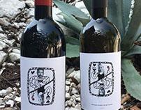 vine bottles stickers for present
