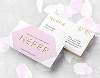 NEFER : Organic Skin Care Branding