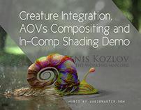 Creature Integration/Advanced AOVs Demo
