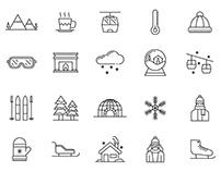 20 Alpine Vector Icons