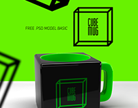 FREE Cube Mug Mockup