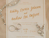 Ashley & Andy Wedding Invites