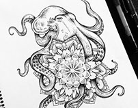 Octopus Mandala tattoo commission