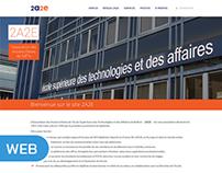 "Site internet ""2A2E"" (ESTA Belfort)"