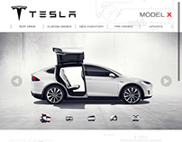 Tesla Motors MODEL X iPad Website Redesign