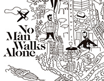No Man Walks Alone store Packaging