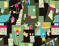 Hanging petticoats- Textile print design