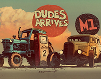 """Dudes arrives "" MTZ and GAZ-M1"