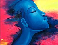 "Acrylic Painting ""La Expressiva"""