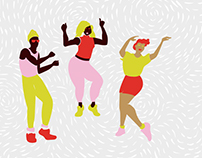Dance Illustrations for Saffron Records