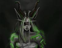 digital study for elf girl