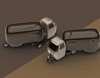 1950 Piaggio Ape with Camper trailer