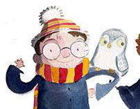 CHILDREN'S BOOK ILLUSTRATION - Harry Potter