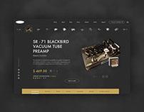 Vintage Guitar Pedal - Website Redesign