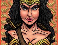 Gadot Wonder Woman Bust - Fan Art
