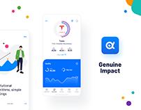 Genuine Impact - fintech mobile app