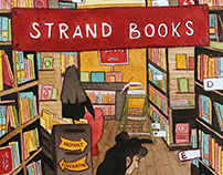 NYC Illustrations: The Strand