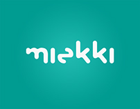 Logotype, site, character and visit card for Miekki