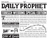 Tobisch Wedding Program