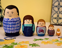 Personal project - Schillemore family nesting dolls
