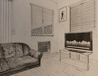 Living Room 2 Point Perspective most appreciated projects on behance