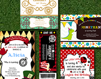 Invitation Layouts for Children's Birthday Party
