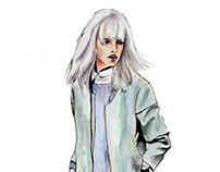 Illustrated Ladies: Flurried Fashionista