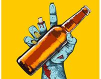 Zombie Beer Illustration