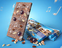 World's first chocolate playing music