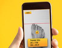 SizeMyShoe - технология измерения размера ноги