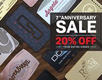 Metal Business Card Anniversary SALE
