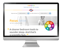 Clorox Institute of Clean Landing Page