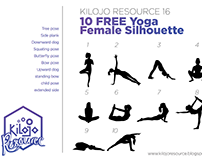 kilojoResource16 - 10 Free Yoga Female Silhouette