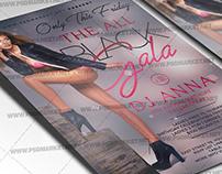 Black Gala Night Flyer - PSD Template