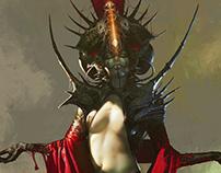 """""""Ancient goddess"""" concept art"""
