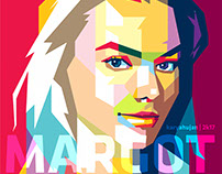 Margot Robie ini WPAP Artwork Style