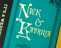 Wedding Invitation: Katrina & Nick