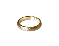 14K Hammered Gold Ring