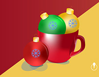Holiday cup created in Illustrator on iPad