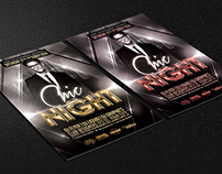 Chic Night Free Flyer Template